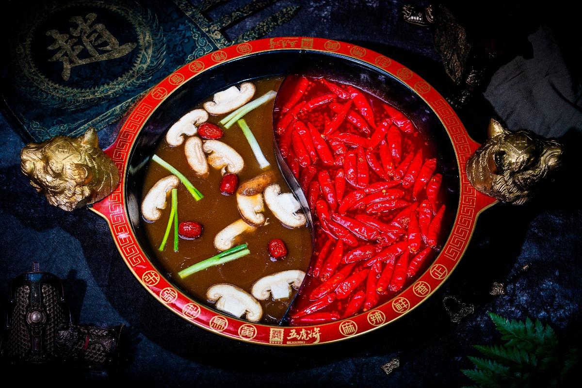 子龍鴛鴦鍋(麻辣+菌湯,番茄,鈣骨)