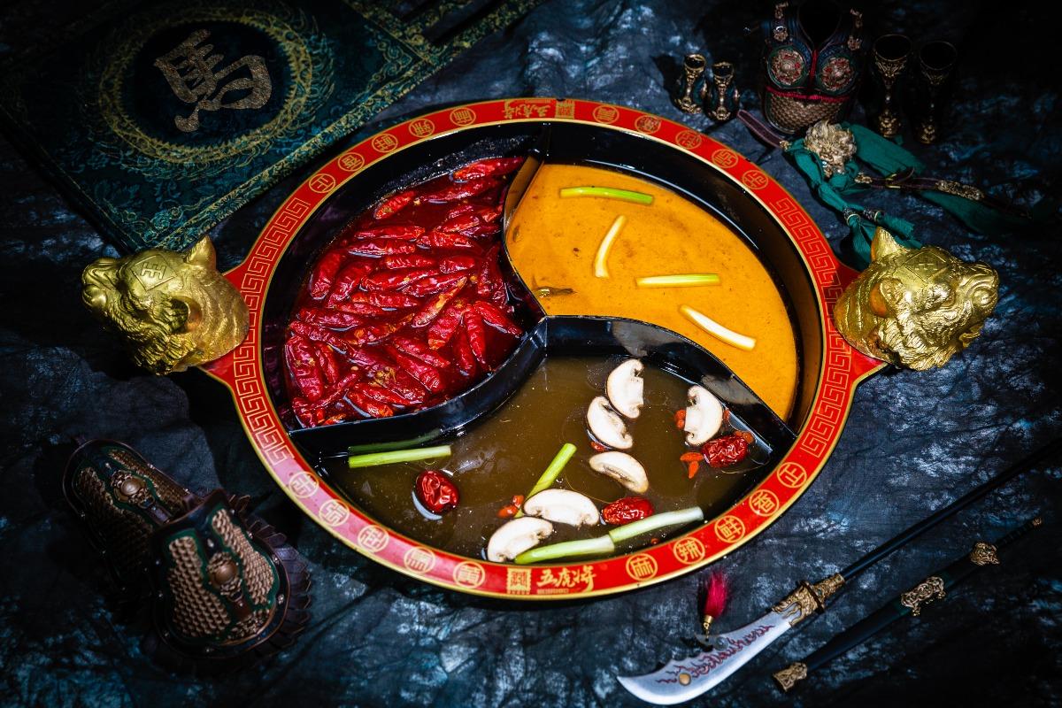 馬超三味鍋(麻辣+酸菜酸辣+菌湯)