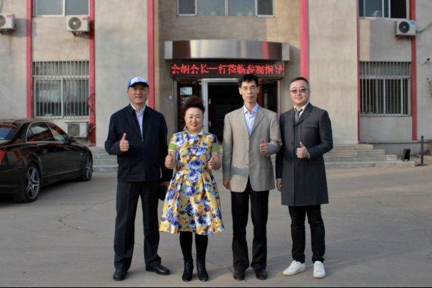 中國砂石協會會長胡幼奕一行走...