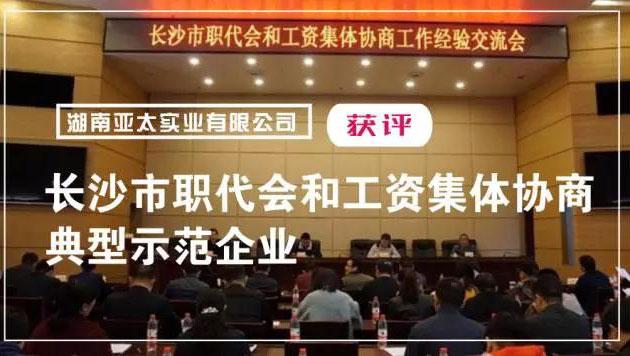 湖南亞太實業有限公司獲評長沙市職代會和工資集體協商典型示范企業