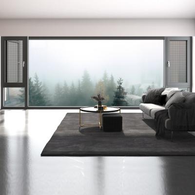 86系列連體二合一玻璃+網港式窗