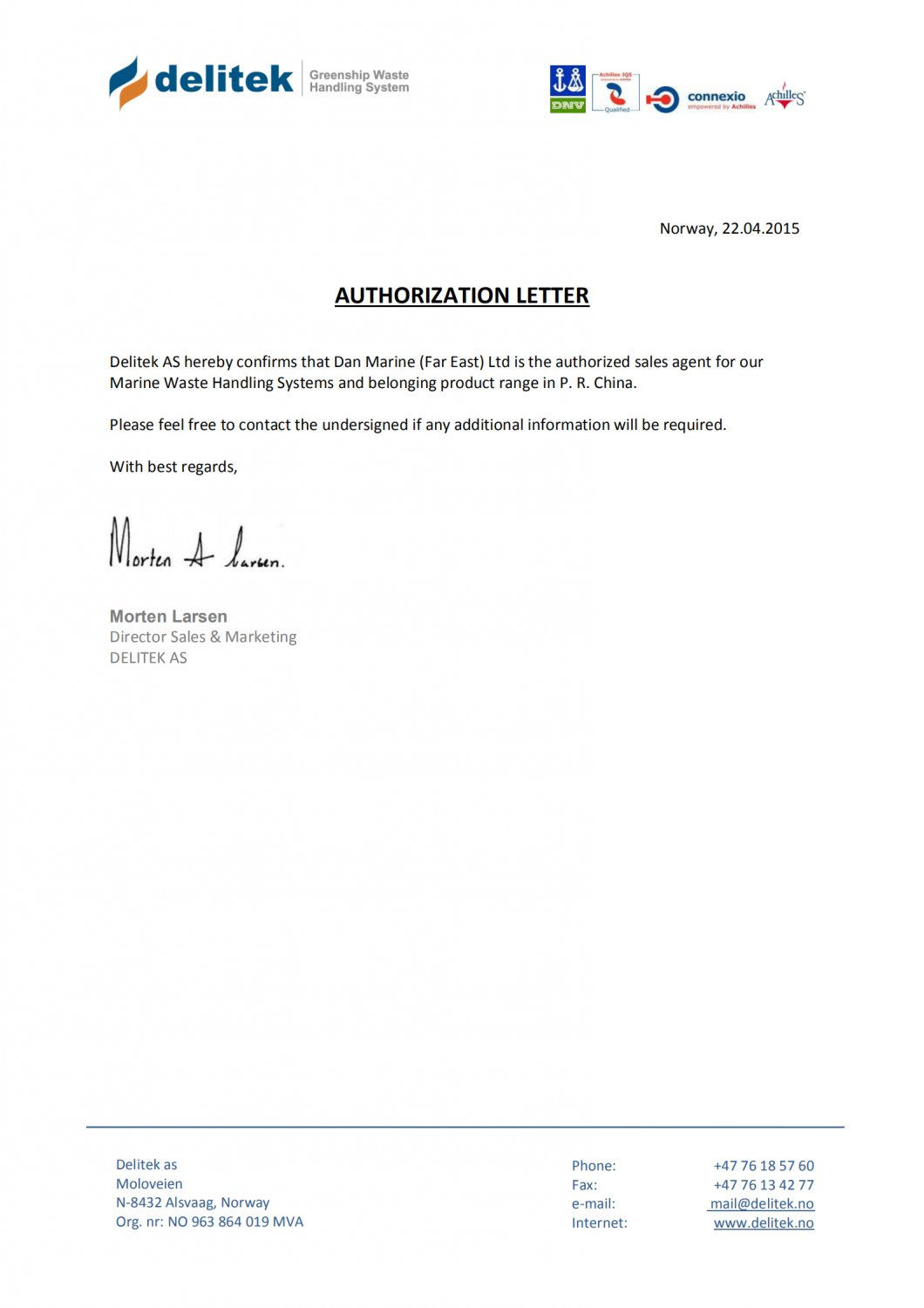 Authorized Letter from Delitek to DMFE_00