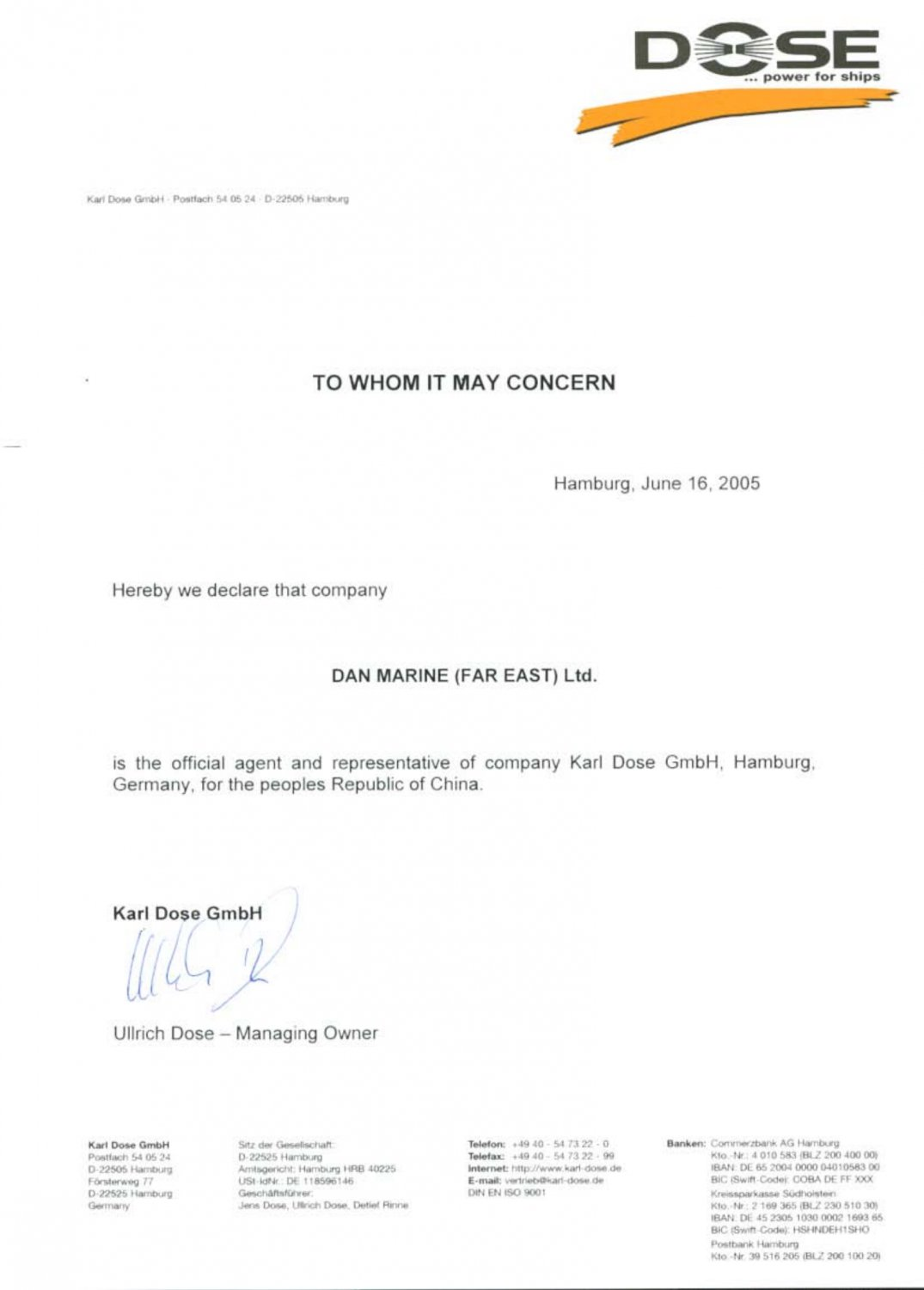 Authorized Letter from DOSE to DMFE_00
