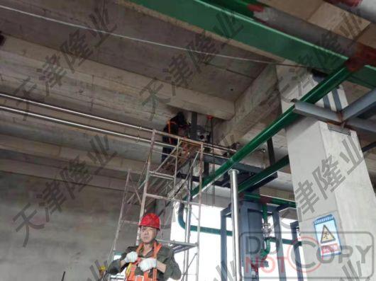 天津隆業管鏈機安裝現場圖片