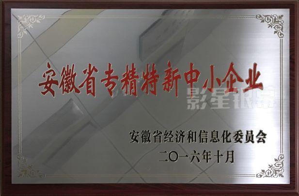 安徽省專精特新中小企業