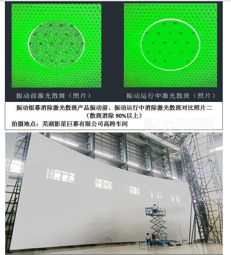 振動銀幕消除散斑對比