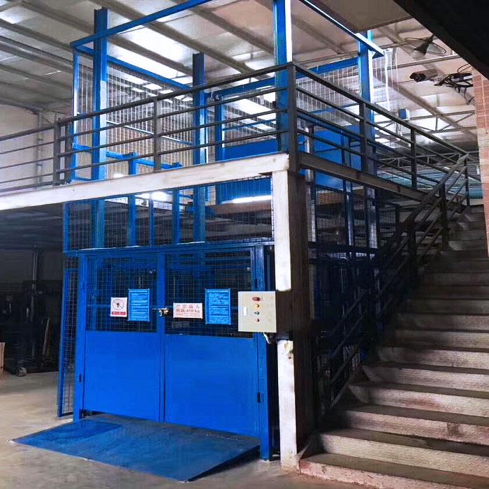 Installation of lifting platform in Panyu Nancun w