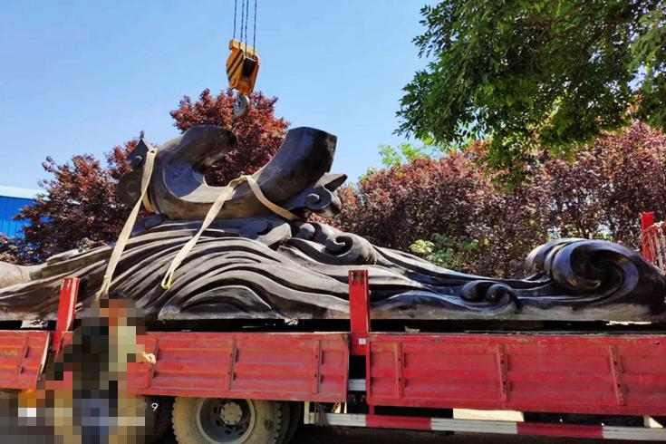大型雕塑拆解安裝過程