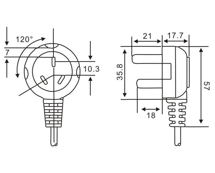 中國標準插頭QL-016