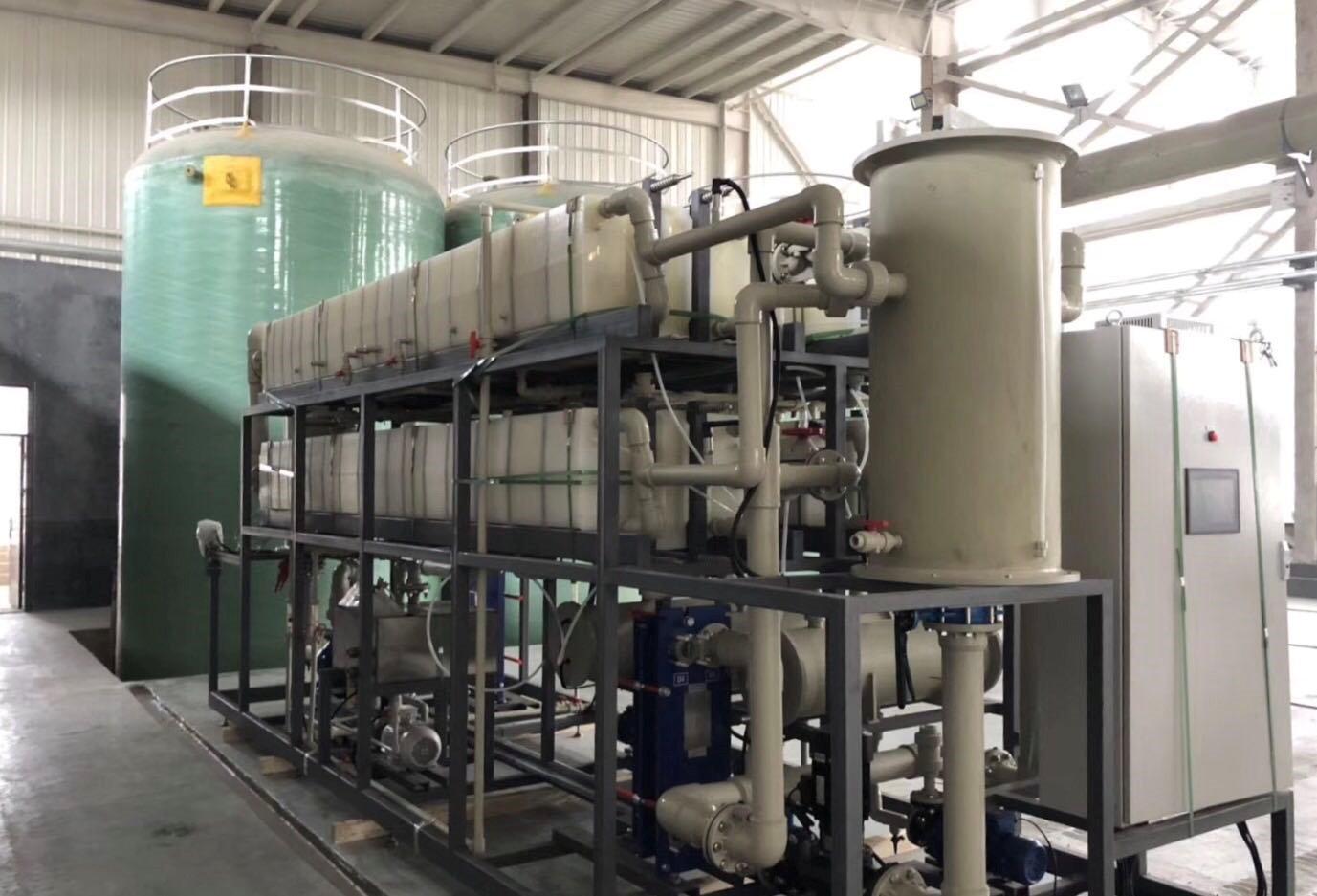 膜蒸馏在铅酸电池拆解中废硫酸...