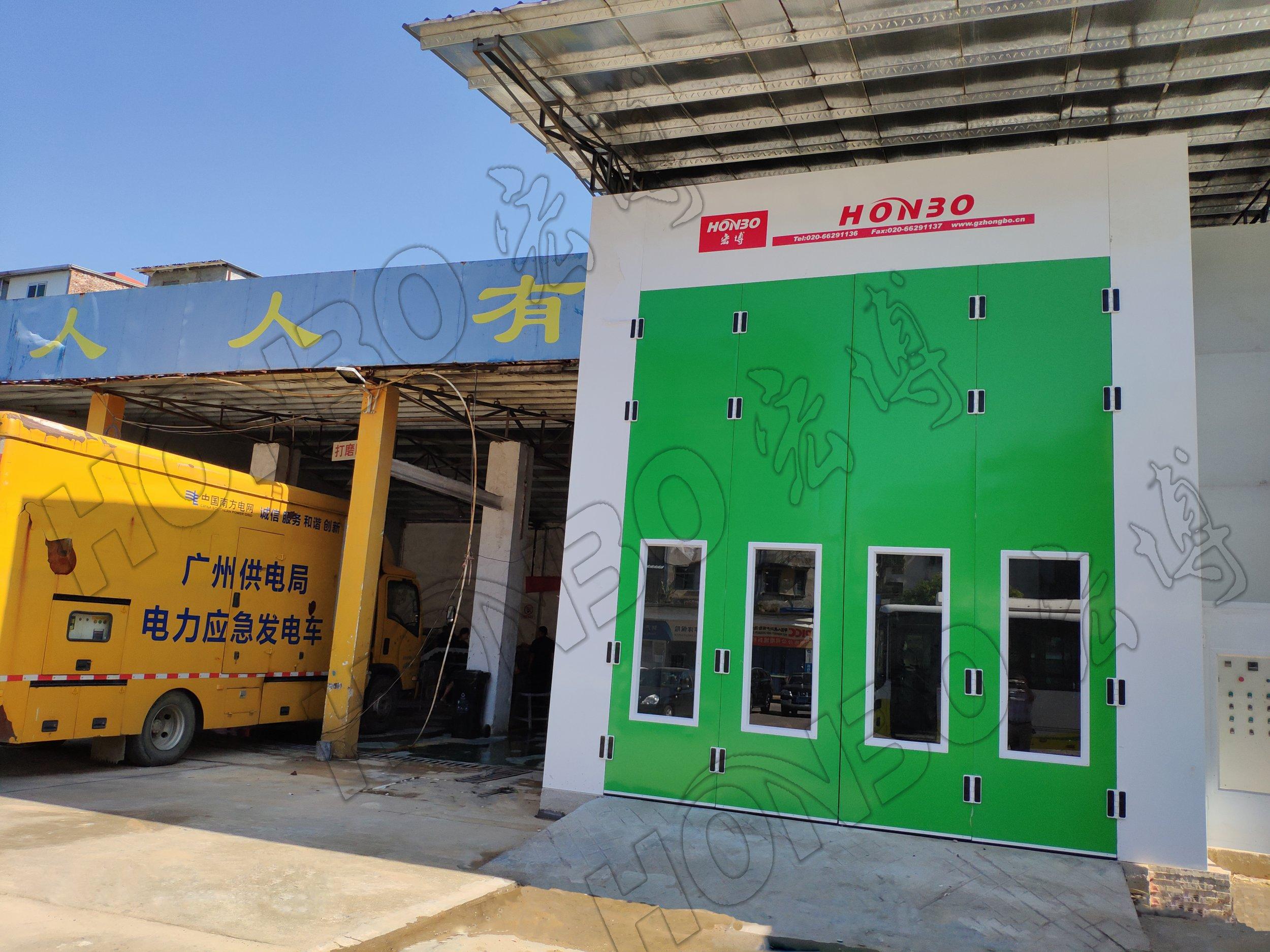 广州交通集团--公交/大巴车环保型喷烤漆房