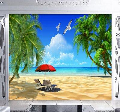 沙灘海灘椰樹海景背景墻.png