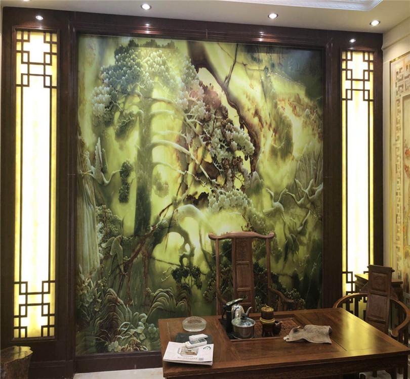 中式石材大板背景墙