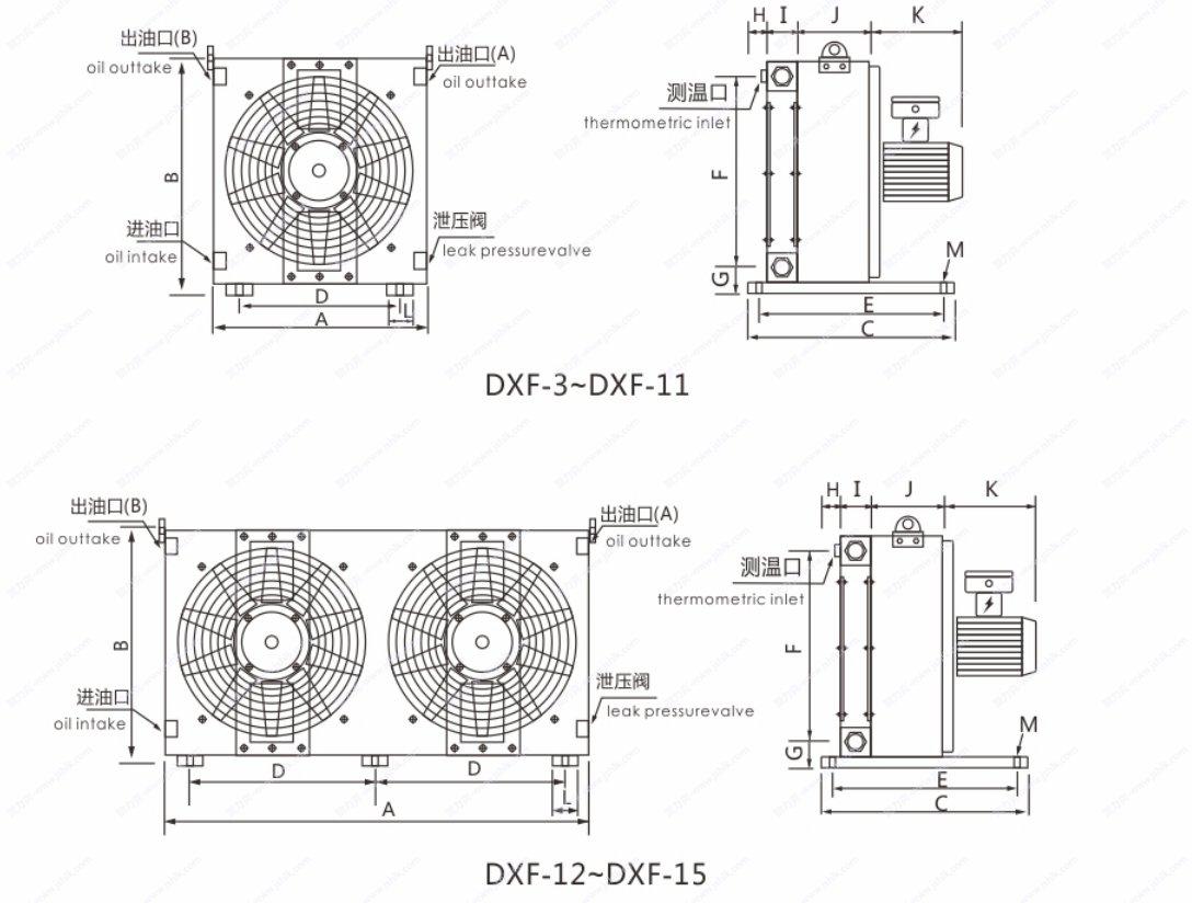 DXF系列防爆电机型风冷却器尺寸 江苏贺力克生产直销批发DXF系列防爆电机型风冷却器 适用于煤矿机械,隧道设备,化工设备,汽油田设备,粉尘爆炸,气体防爆,瓦斯等易燃易爆场合 本系列产品采用防爆等级ExdⅡBT4和ExdⅡCt4的高性能防爆电机驱动,还可以定制全铜管铜翅片式,能够满足各种防爆场合的液体冷却要求 18年生产技术,15个月质保期,耐压35bar耐用,效率高 提供具体解决方案,精心配套的冷却器厂家,效率高 热线电话:13861859922