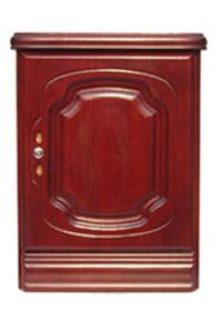 木床头柜式保险柜