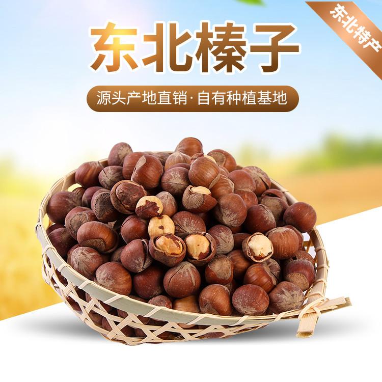 东宁润乡东北特产干货零食超大榛子无添加非油炸坚果炒货500g