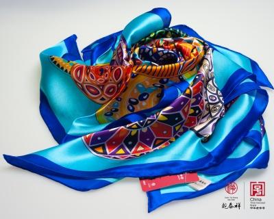 真丝印花大方巾 2200002-35