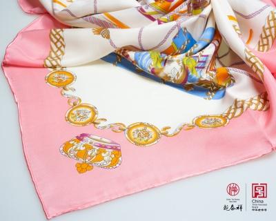 真丝印花大方巾 2200002-39