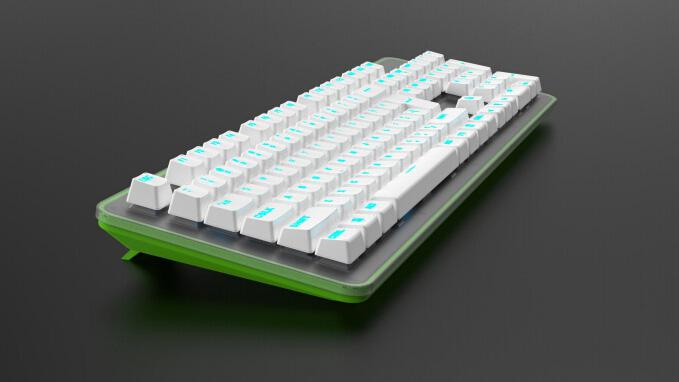 TK100白绿色机械键盘