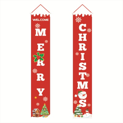 Merry Christmas Banners Front Door Welcome Christmas