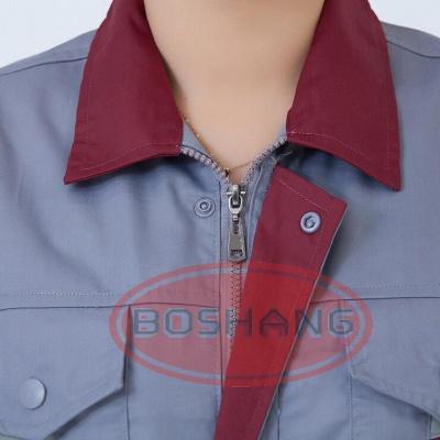 厂家 夏季半袖工作服套装 工厂车间短袖劳保工装制服定做