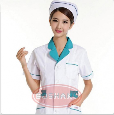 护士服 药店工作服 职业装夏款装 白色粉色兰色短袖半袖 工服定做