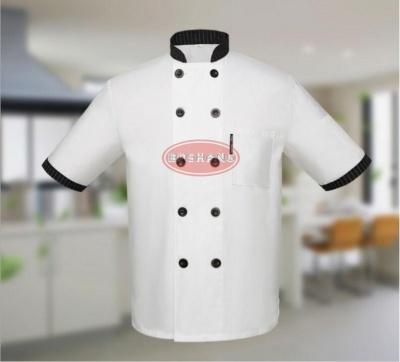 厂家订制厨师服短袖 酒店厨师服夏装 餐厅饭店厨房工作服厨师服