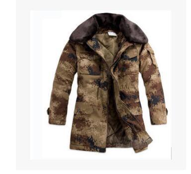 迷彩防寒服男棉大衣中长款加厚大衣冷库防寒保暖劳保棉袄工作服