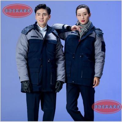 冬季棉袄工作服 男女加厚汽修工厂室外工程劳保防寒服 工作服定制生产