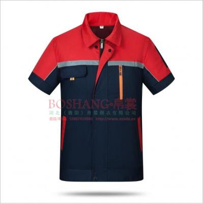 夏季工作服短袖厂家订制生产,加工订做汽修服工装厂服防静电特种服装