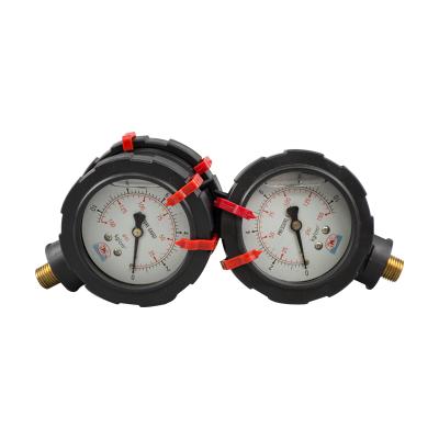 欣汉生耐高温耐腐蚀聚丙烯双面压力表HS-004