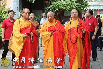 加拿大佛教会访华团参访北京龙泉寺 学诚会长热情接待