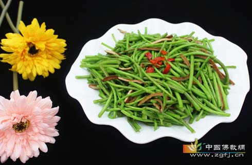佛教素食-芦蒿香干