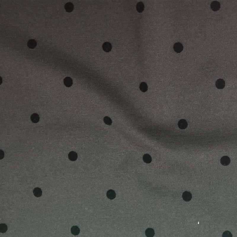 厂家直销T/R罗马布植绒(圆点)精选服装面料 辅料 打底裤面料