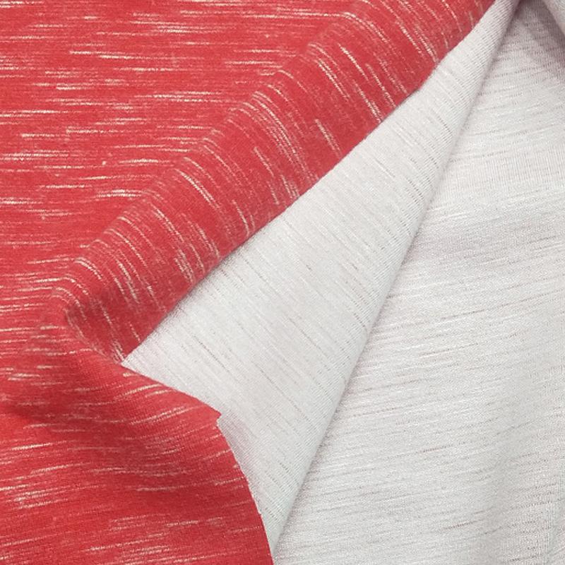 厂家直销TR缎染涤粘竹节罗马布 服装专用面料