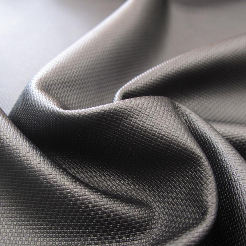 厂家直销T/R罗马PU复合面料 330克皮裙外套打底裤面料批发