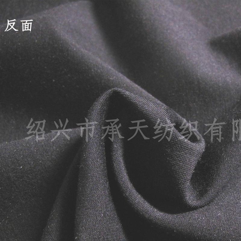 厂家直销N/R/T纬编罗马布 服装双面罗马布 麻灰黑双色针织面料