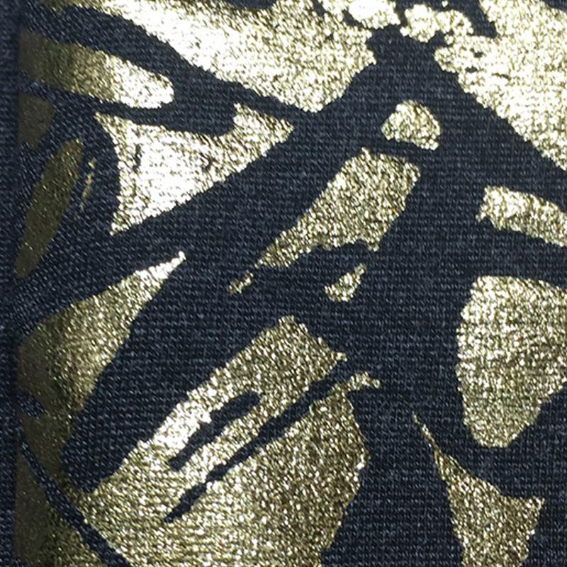 厂家直销粘锦罗马布烫金 服装纬编烫金面料 粘锦罗马布烫金批发