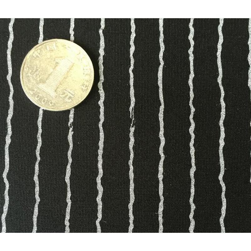 现货多种花型 40支420克锦棉印花条子紧密赛络纺罗马布 厂家直销