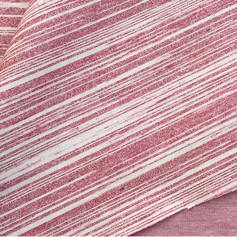 厂家直销30S斑纹纱混纺纱细针双面 机缸染色纬编针织面料罗马布