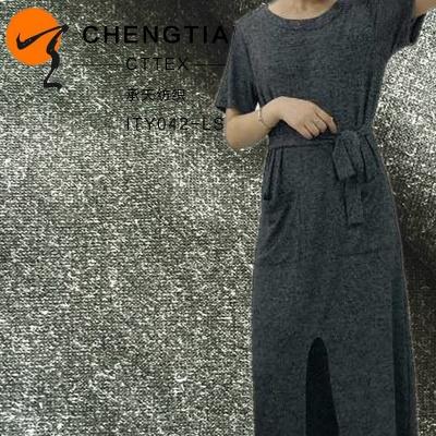 厂家直销纬编40S罗马组织针织面料 服装专用染色RT亮丝罗马布批发