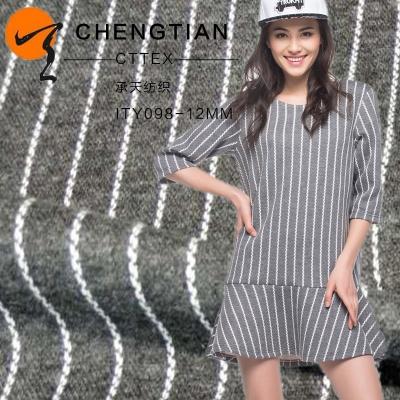 厂家直销30STR条纹罗马布 服装用布纬编针织料批发