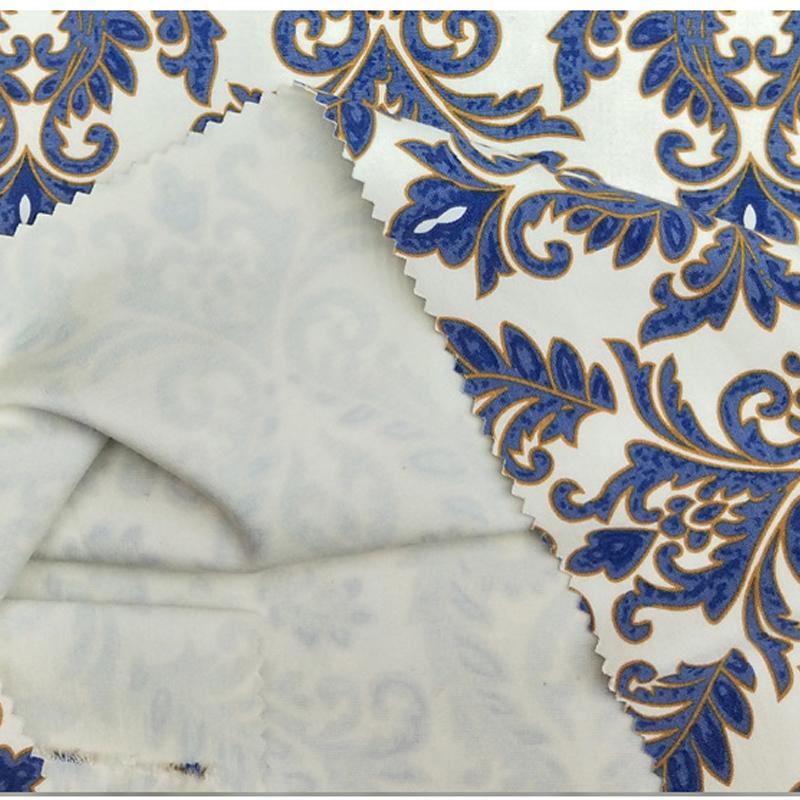 厂家直销50支粘锦罗马布 印花女装面料罗马布面料批发