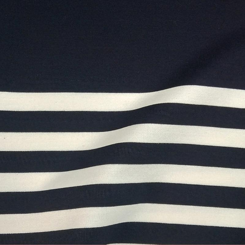 厂家直销条子R/T罗马布 打底衫 连衣裙面料 30S(环定纺)罗马布