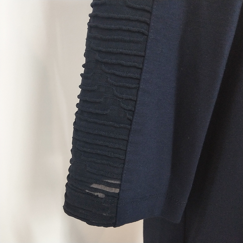 秋季新品女装个性时尚蕾丝拼接H型连衣裙PO18434A