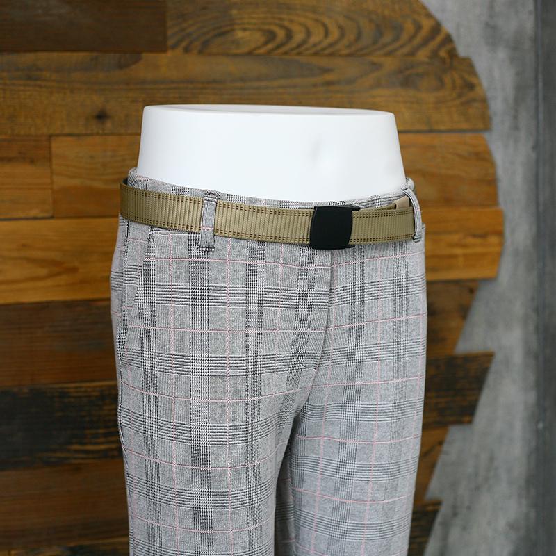 女裤2018秋冬新款女休闲西装裤 格纹罗马布女裤
