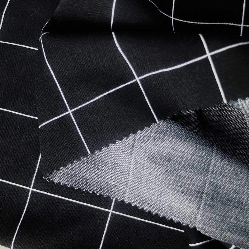新款涤棉针织色织格子面料  女装大衣秋冬爆款针织布