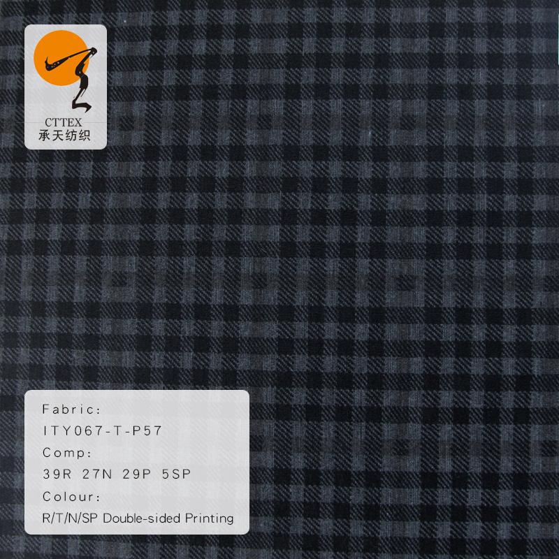 30S 双面罗马布印花 现货批发NR罗马布印花女装时尚衫服装布料