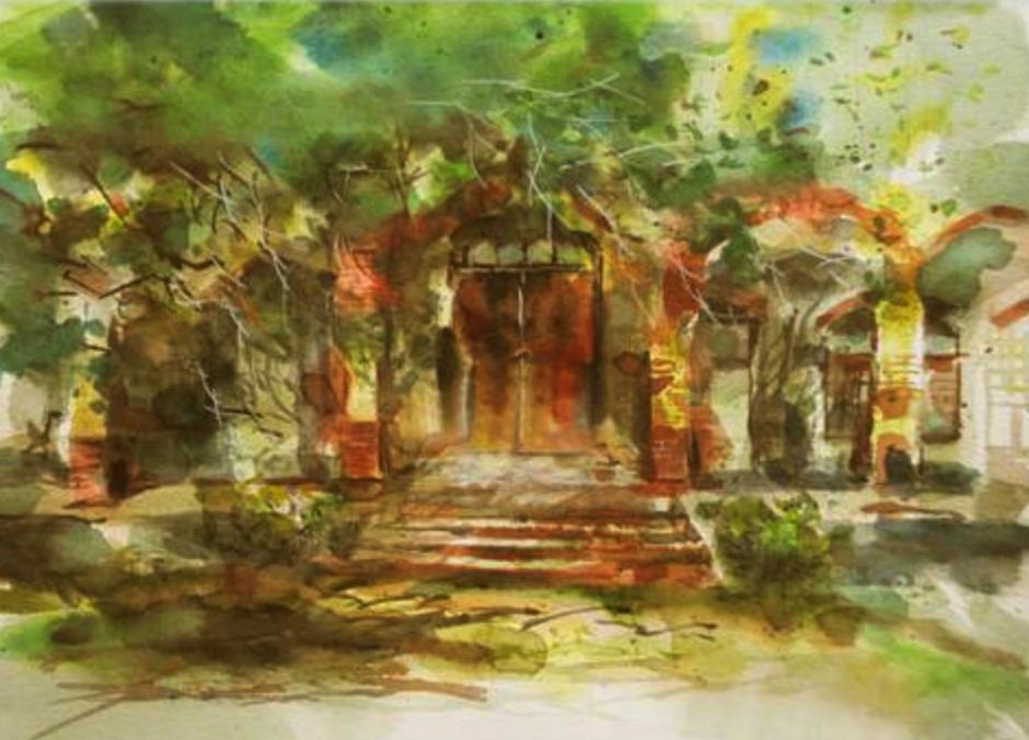 亚洲写生Watercolor PaintinginAsia