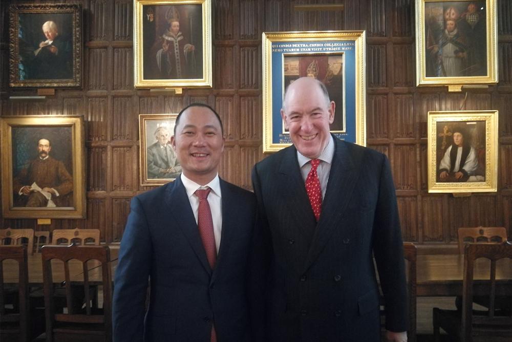 合地集團總裁張奎隨國務院副總理出訪英國